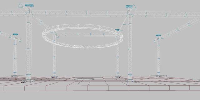 Werktekening rigging projecten door Neef Hijstechniek